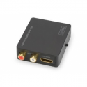 Digitus VGA to HDMI converter, incl. Audio 2xRCA