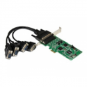 Startech .com 4 Port PCI Express PCIe Serial Combo Card - Serial adapter - PCIe - RS-232, RS-422, RS-485 - 4 ports