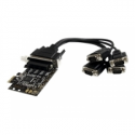 Startech .com 4 Port RS232 PCI Express Serial Card w/ Breakout Cable - Serial adapter - PCIe - RS-232 x 4
