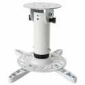Techly Universal projector ceiling mount 20 cm, 15 kg, white