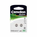 """Camelion Alkaline Button celles 1.5V (LR726)/AG2//LR59/396, 2-pack, """"no mercury"""""""