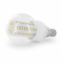 Whitenergy LED bulb | E14 | 80 SMD | 4W | 230V | warm white | sphere B60