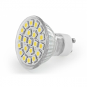 Whitenergy LED bulb | GU10 | 21 SMD 5050 | 3.5W | 230V | cold white | reflector