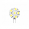Whitenergy LED bulb | G4 | 6 SMD 5050 | 1.2W | 12V | cold white