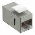 Logilink - Keystone Inline Coupler 2xRJ45 Cat.6 STP, snap-in mounting