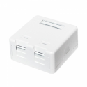 Logilink - Keystone Surface Mounted Box 2 port UTP, white