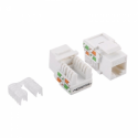 Logilink - Keystone Jack RJ45 Cat.5e Unshielded 90° LSA/IDC punch down, white