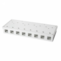 Logilink - Keystone Surface Mount Box 8 port UTP, white, blank
