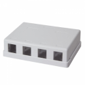 Logilink - Keystone Surface Mount Box 4 port UTP, white, blank