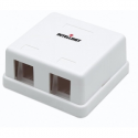 Intellinet Surface mount box for Keystone module, two outlet, white