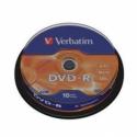 VERBATIM DVD-R 10-PACK-SPINDLE MATTE SIL