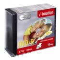 IMATION DVD-R 10-pack 4,7GB 120min 16x printable in slim jewel case