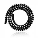 4world Cable Organizer SMART SNAKE - diameter 34mm, length 1.5m, black