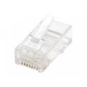 Intellinet Modular Plugs RJ45 UTP stranded 8p8c, Cat 5e, 100 plugs in jar