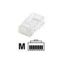 Intellinet Modular Plugs RJ45 UTP stranded 8p8c, Cat6, 100 plugs in jar