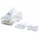 Intellinet Modular plug RJ45 8P8C Cat6A UTP for solid wire 80 plugs in jar