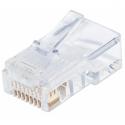 Intellinet Modular plug RJ45 8P8C Cat5e UTP for solid wire 100 plugs in jar