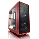 Fractal Design Focus G FD-CA-FOCUS-RD-W Side window, Left side panel - Tempered Glass, Red, ATX, Power supply included No