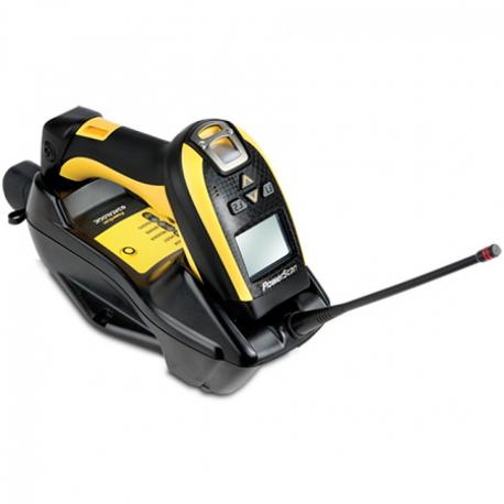 Datalogic PM9100, 1D, multi-IF, disp., kit (RS232), RB, black, yellow
