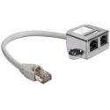 Delock RJ45 Port Doubler 1 x RJ45 plug > 2 x RJ45 jacks (2 x Ethernet)