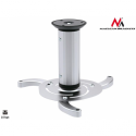 Maclean MC-515 Quality Ceiling Projector Mount Bracket Universal Silver Max 10KG