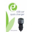 Gembird Mini 2-port USB car quick charger, black