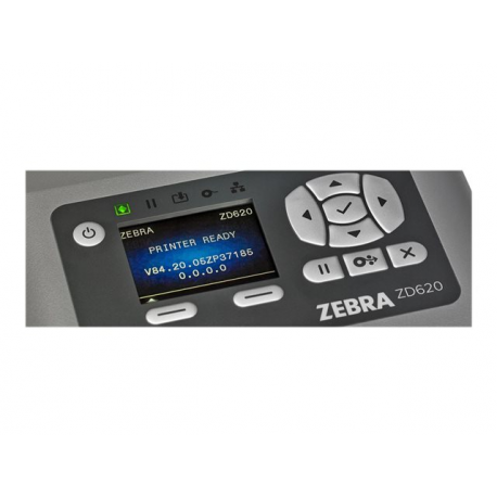 Zebra ZD620d, 8 dots/mm (203 dpi), RTC, EPLII, ZPLII, USB, RS232, Ethernet, grey