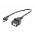 Gembird cable USB OTG AF to micro BM, 0.15 m, blister