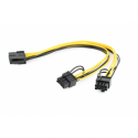 Gembird Internal power adapter cable for PCI express, 8 pin to 2x 6+2 pin, 0.3m