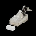 LOGILINK - Modular Plug Cat.6A RJ45 for Cat7,Cat.6A, Cat.6 cable, 10pcs. set