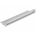 "Delock 19"" Keystone Patch Panel 24 Port grey"