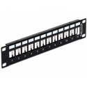 Delock 10' Keystone Patch Panel 12 Port metal black