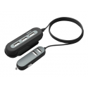 HAMA 2+3 Power Extension USB Car Charger 10A 2 m black