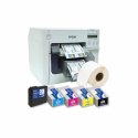Epson ColorWorks C3500 Label Club Bundle 02, cutter, disp., USB, Ethernet, NiceLabel, white
