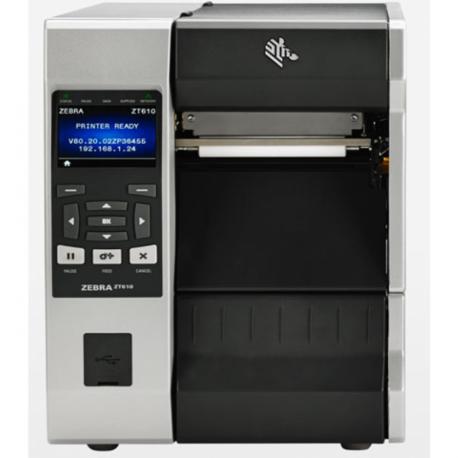 Zebra ZT620, 8 dots/mm (203 dpi), cutter, disp. (colour), ZPL, ZPLII, USB, RS232, BT, Ethernet