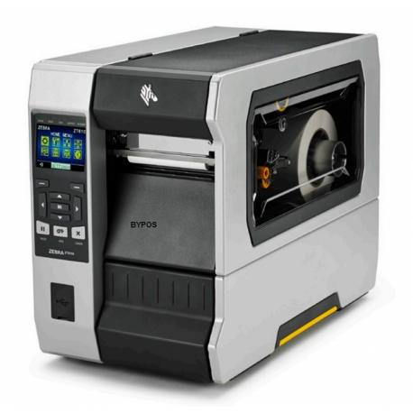 Zebra ZT610, 12 dots/mm (300 dpi), rewind, disp. (colour), ZPL, ZPLII, USB, RS232, BT, Ethernet
