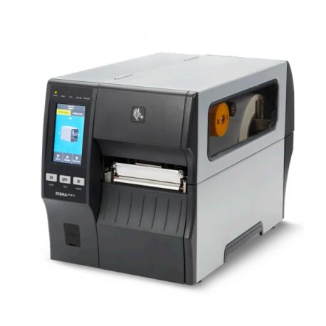 Zebra ZT411, 12 dots/mm (300 dpi), peeler, rewinder, disp. (colour), RTC, EPL, ZPL, ZPLII, USB, RS232, BT, Ethernet