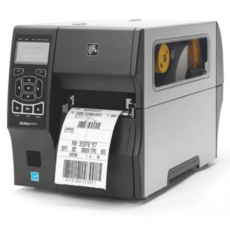 Zebra ZT411, 12 dots/mm (300 dpi), peeler, disp. (colour), RTC, EPL, ZPL, ZPLII, USB, RS232, BT, Ethernet
