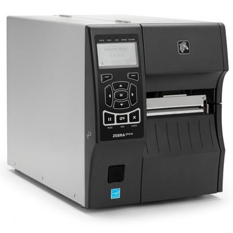 Zebra ZT411, 8 dots/mm (203 dpi), disp. (colour), RTC, RFID, EPL, ZPL, ZPLII, USB, RS232, BT, Ethernet
