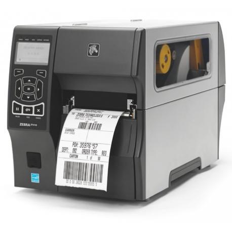 Zebra ZT411, 8 dots/mm (203 dpi), disp. (colour), RTC, EPL, ZPL, ZPLII, USB, RS232, BT, Ethernet, Wi-Fi