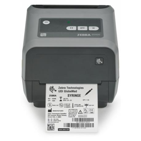 Zebra ZD420, cartridge, 8 dots/mm (203 dpi), MS, RTC, EPLII, ZPLII, USB