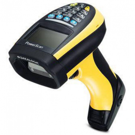 Datalogic PM9100, 1D, multi-IF, disp., kit (USB), RB, black, yellow