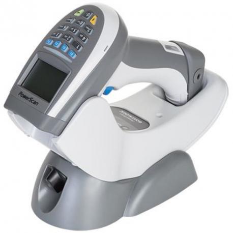 PowerScan Retail PM9500, 433MHz, RS-232 Kit, Black, Rem Batt (Kit inc. PM9500-BK-433-RT, BC9030-BK-433-BP, 8-0935 AND CAB-433.)