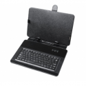 10.1 -inch universal cover for tablets with keyboard - micro USB Quer