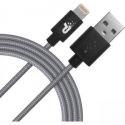 Patriot Charge and Sync Lightning Woven Cable 3.3 ft Lightning/USB space grey