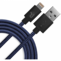 Patriot Charge and Sync Lightning Woven Cable 3.3 ft Lightning/USB navy