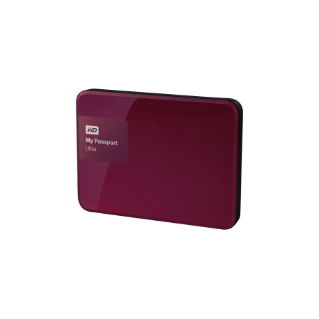 WD My Passport WDBYFT0040BRD - Hard drive - encrypted - 4 TB - external  (portable) - USB 3 0 - 256-bit AES - red