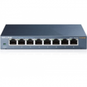 Tp-link TL-SG108 Switch 8x10/100/1000Mbps, Metal case, IEEE 802.1p QoS