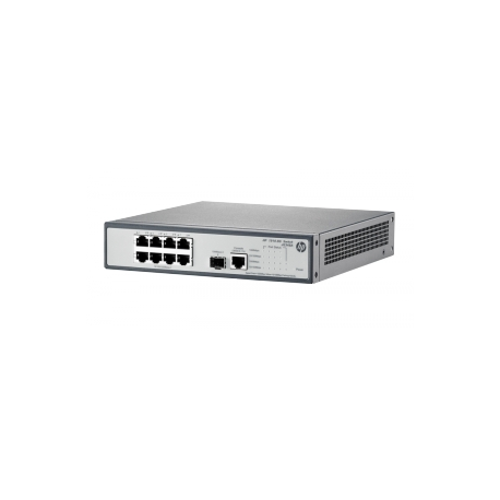 HP 1910-8G Switch - Switch - L3 - Managed - 8 x 10/100/1000 + 1 x Gigabit  SFP - rack-mountable