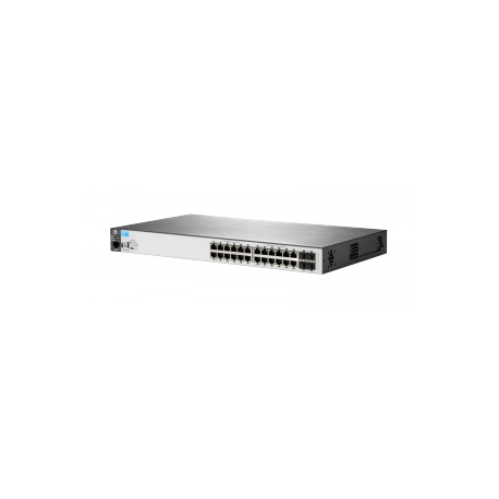 Aruba 2530-24G - Switch - Managed - 24 x 10/100/1000 + 4 x Gigabit SFP -  desktop, rack-mountable, wall-mountable